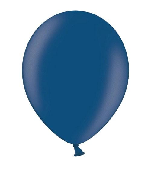 Metallic-Luftballons - dunkelblau - 10 Stück