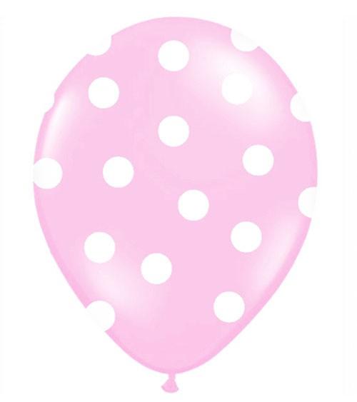 "Luftballons ""Big Dots"" - rosa - 6 Stück"