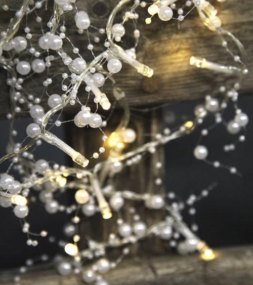 """LED-Lichterkette """"Perlen-Girlande"""" - weiß - 1,6 m"""