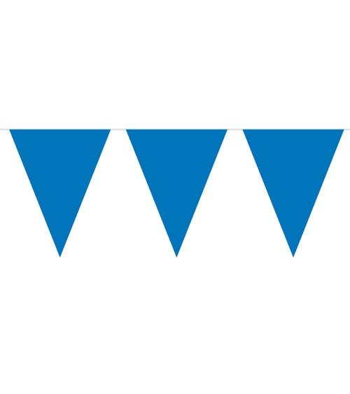 Wimpelgirlande aus Kunststoff - dunkelblau - 10m