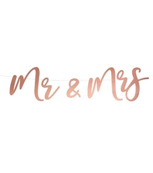 Mr & Mrs-Girlande - rosegold - 68 cm