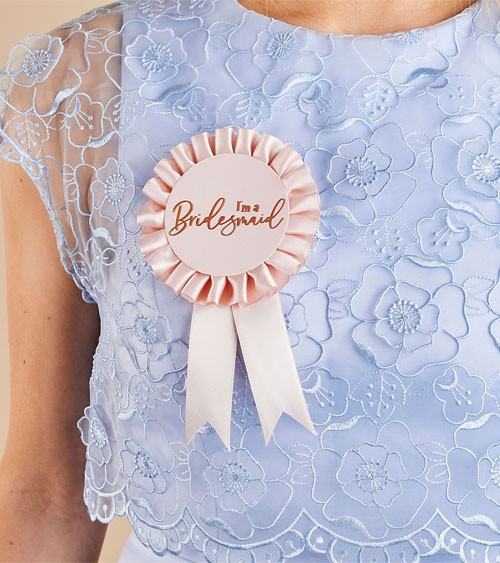 "Orden ""I'm a Bridesmaid"" - blush, rosegold"