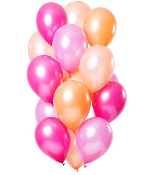 """Metallic-Luftballon-Set """"Peachy Flamingo"""" - 15-teilig"""
