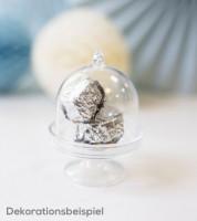 Mini-Etageren mit Glocke aus Kunststoff - transparent - 3 Stück