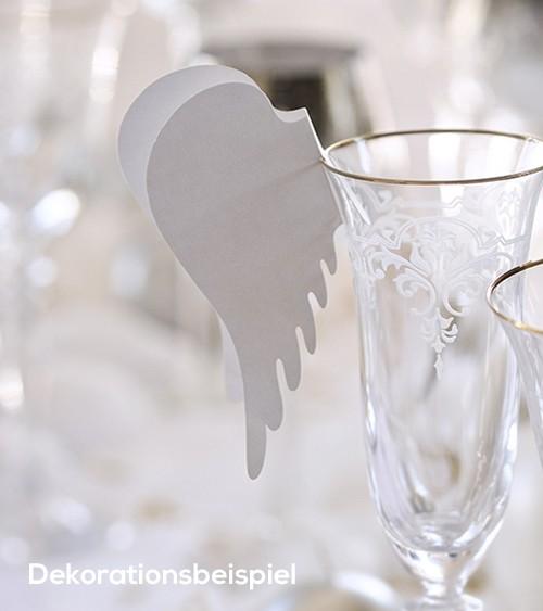 "Glasdekoration ""Engelsflügel"" - 10 Stück"