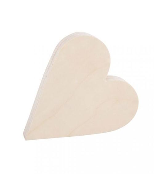 Herz aus Holz zum Aufstellen - 18 x 20 cm