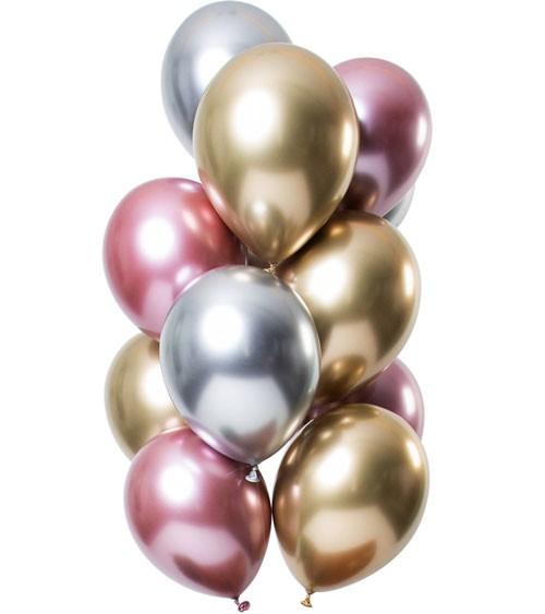 """Luftballon-Set """"Mirror Effekt"""" - Morganite - 12 Stück"""