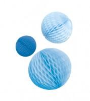 "Wabenball-Set ""Farbmix Blau"" - 3-teilig"