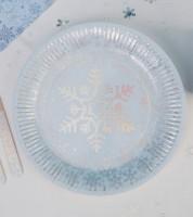 "Pappteller ""Iridescent Snowflake"" - 8 Stück"