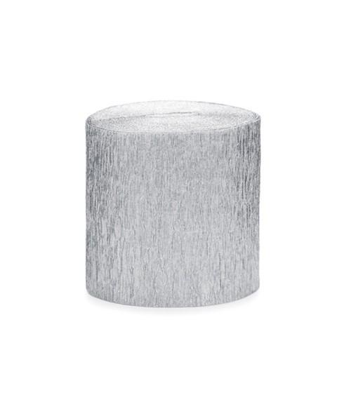 Deko-Kreppbänder - silber-glänzend - 10 m - 4 Stück
