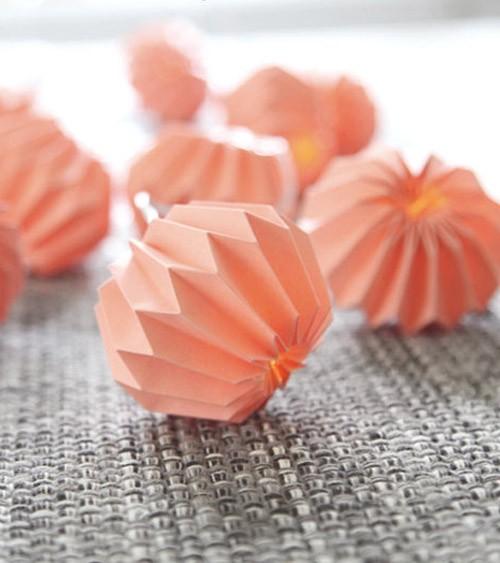 """LED-Lichterkette """"Paper Flower"""" - koralle - 2,25 m"""