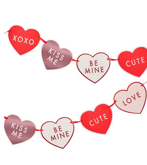 "DIY Herz-Girlande ""Be My Valentine"" - 2 m"