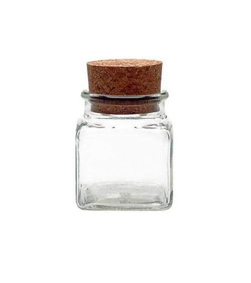 Korkenglas - quadratisch - 120 ml