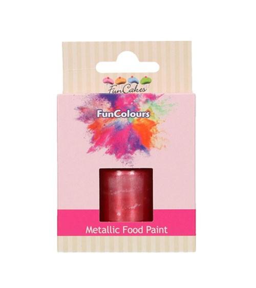FunCakes Lebensmittelfarbe - metallic cerise - 30 ml