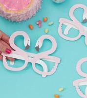"""Party-Brillen aus Pappe """"Flamingo"""" - 6 Stück"""