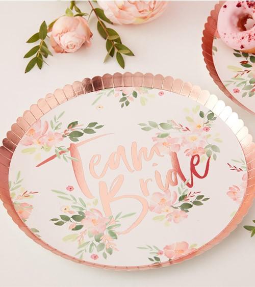 "Pappteller ""Florale Brautparty"" - 8 Stück"