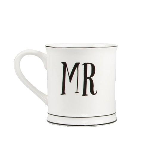 """Tasse aus Porzellan """"Mr"""" - weiß/schwarz"""
