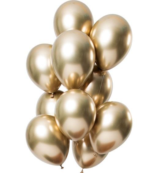 """Luftballons """"Mirror Effekt"""" - gold - 12 Stück"""