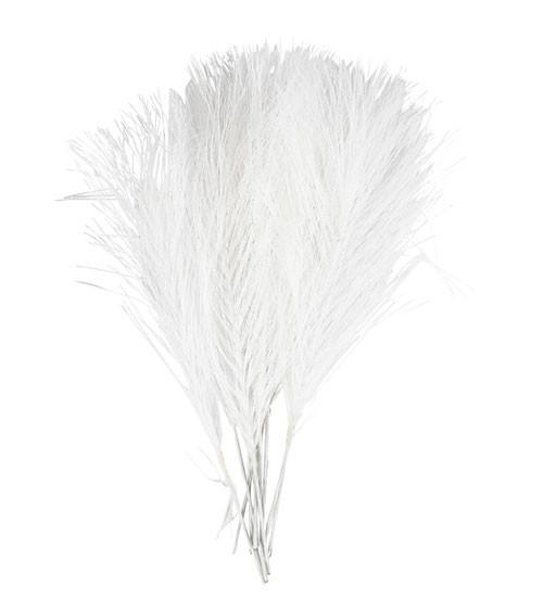Künstliche Federn - 8 x 15 cm - weiß - 10 Stück