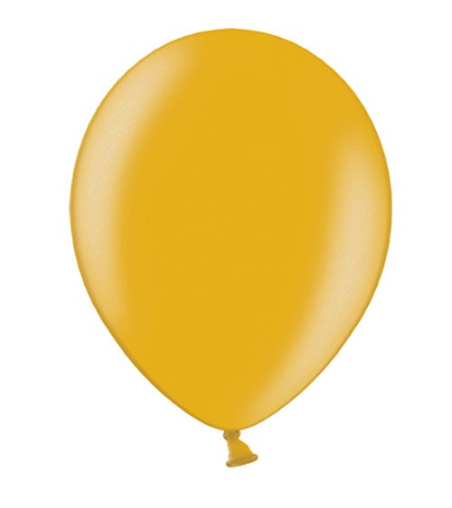 Metallic-Luftballons - gold - 10 Stück
