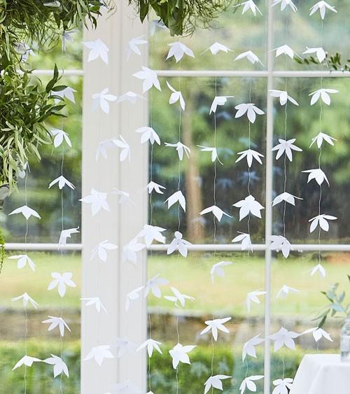 """Girlandenvorhang """"Origami-Blüten"""" - 1,8 m - 12-teilig"""