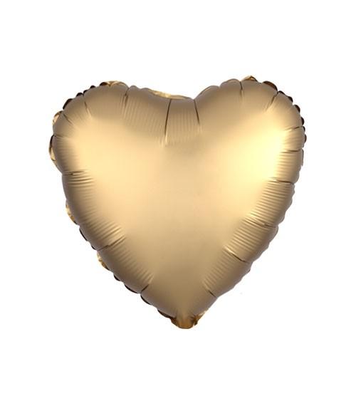 "Herz-Folienballon ""Satin Luxe"" – gold – 43 cm"