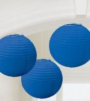 Lampion-Set - 3-teilig - 24 cm - dunkelblau