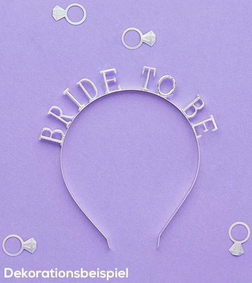 """Haarreifen """"Bride to Be"""" - silber"""