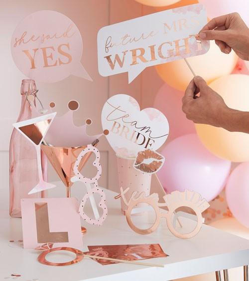 """Photobooth Props mit Stickern """"Future Mrs"""" - 10-teilig"""
