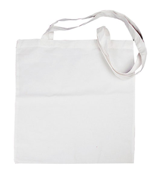 Stoffbeutel mit langen Henkeln zum Bemalen - weiß - 38 x 42 cm