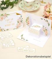 """Pop-Up-Karten mit Stickern """"Will you be my..."""" - 3 Stück"""