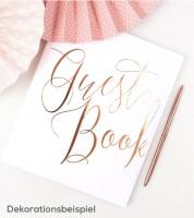 Gästebuch - weiß/rosegold