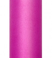 Tischband aus Tüll - pink - 15 cm x 9 m