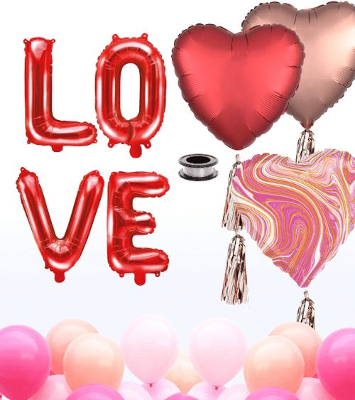"Ballon-Deko-Set ""LOVE"" - 23-teilig"