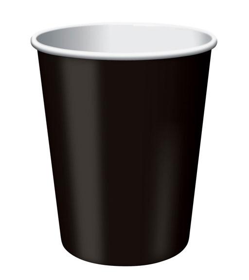 Schwarze Pappbecher - 24 Stück