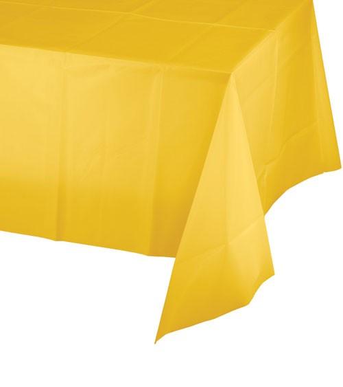 Kunststoff-Tischdecke - school bus yellow - 137 x 274 cm
