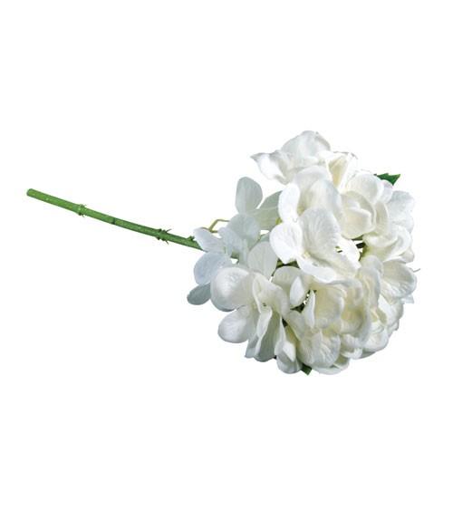Künstliche Hortensie - weiß - 33 cm