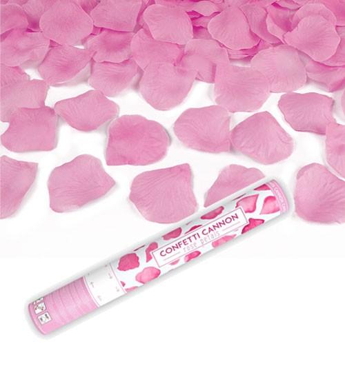 Konfetti-Kanone mit Rosenblättern - pink - 40 cm