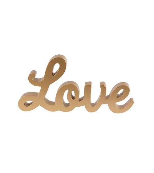 """Schriftzug aus Holz """"Love"""" - gold"""