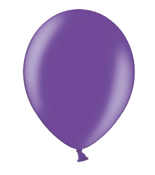Metallic-Luftballons - lila - 50 Stück