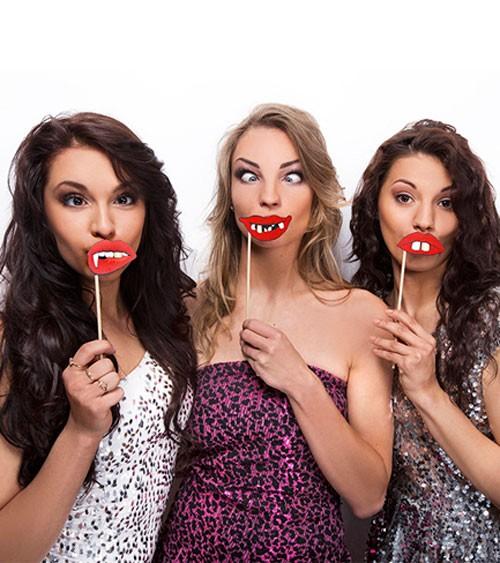 """Photobooth-Zubehör """"Crazy Lips"""" - 3 Stück"""