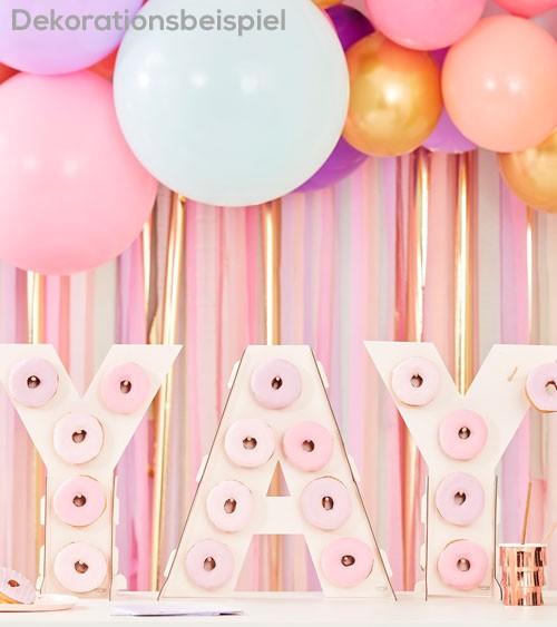 YAY-Donut-Wand - rosa - 3-teilig