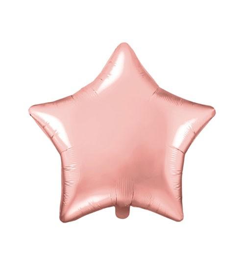 Stern-Folienballon - rosegold - 48 cm