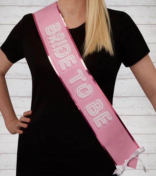 Bride to be-Schärpe - pink/weiß