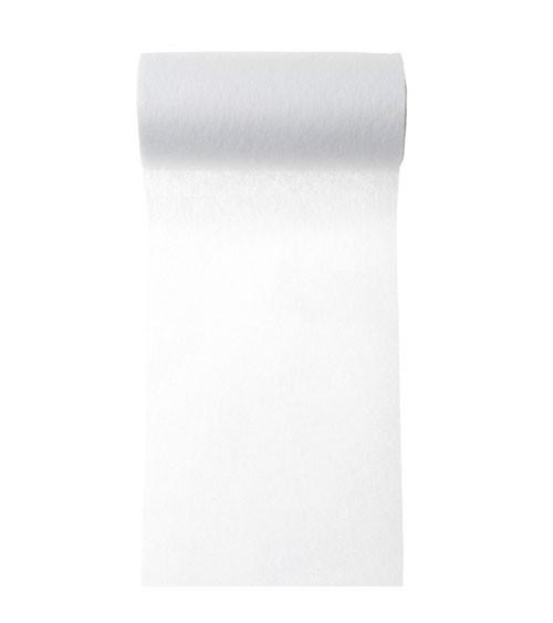 Tischband aus Vlies - weiß - 10 cm x 10 m