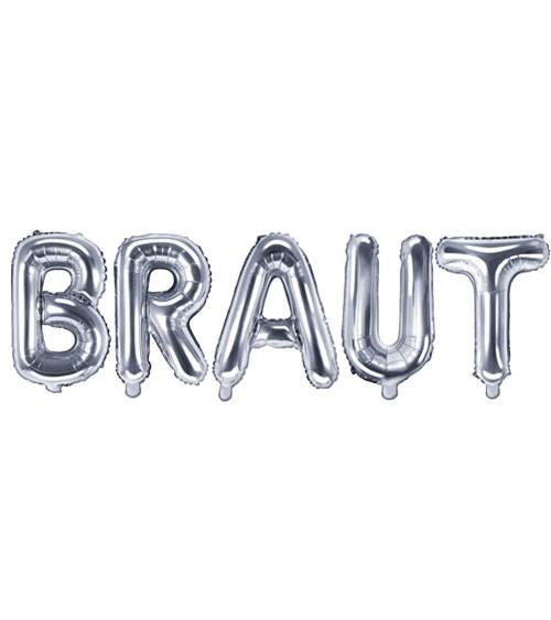 """Folienballon-Set """"Braut"""" - silber"""