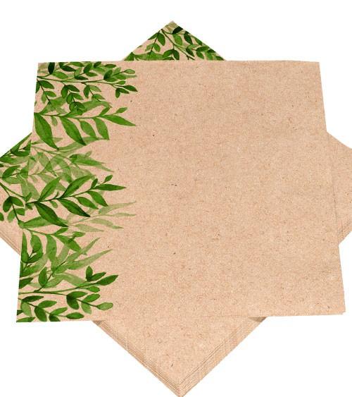 """Servietten aus Recycling-Tissue """"be green"""" - 25 Stück"""