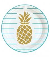 """Pappteller """"Pineapple Vibes"""" - 8 Stück"""