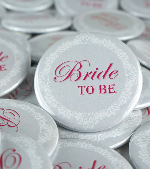 """Bride to be""-Button - 56 mm"