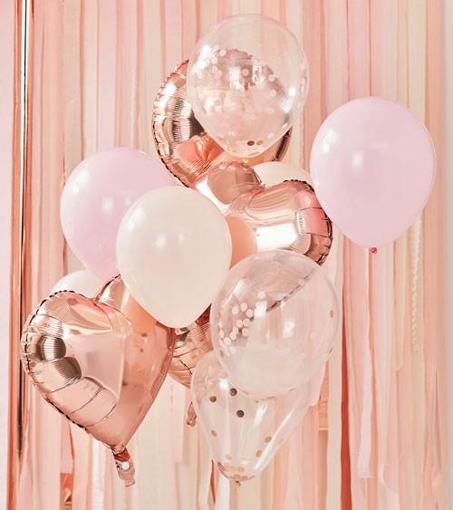 "Ballon-Set ""Mix it up"" - rosegold & rosa - 12-teilig"